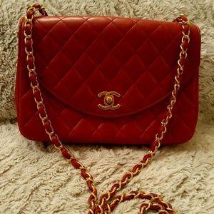 Chanel Vintage Cranberry Red Flap Bag
